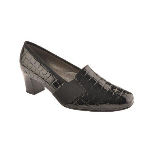 884ee8ededf07a Ara Verona Damen Pumps in Reptil Optik in schwarz Größe 35.5 Schwarz ( schwarz)