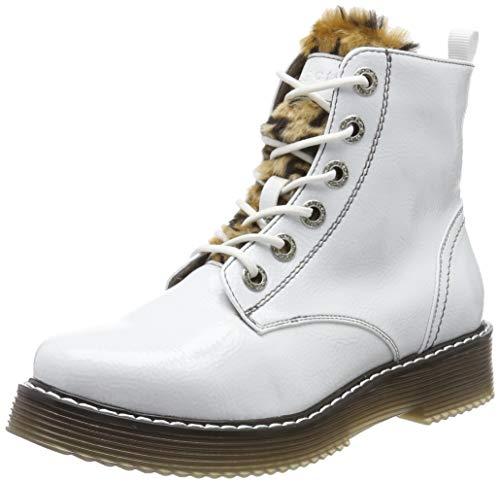 bugatti Damen 432549325969 Stiefeletten, Weiß (White/Brown 2060), 38 EU