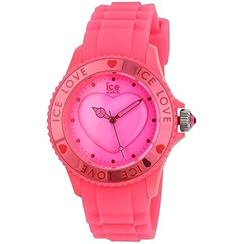 Ice-Watch LO.PK.U.S.10 - Reloj analógico de mujer de cuarzo con correa de silicona rosa - sumergible a 50 metros
