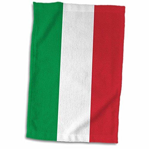 3D Rose Flagge Italiens Square Handtuch für Reisen in Europa und Europa, 38 x 56 cm, Mehrfarbig -