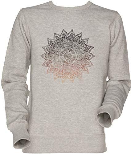 Bohemio Hygge Mandala Unisexo Hombre Mujer Sudadera Jersey Gris Men's Women's Jumper Sweatshirt Grey