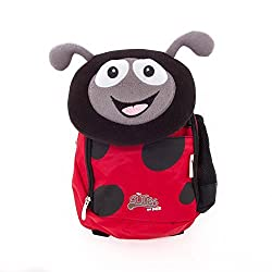 CUTIES AND PALS KIDS SMALL BACKPACK WITH PILLOW LUNCH BAG - LADYBUG