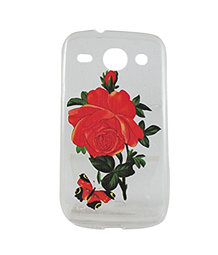 Exclusive Soft Silicon Back Case Cover For Samsung Galaxy Core 2 G355H -Red Rose  available at amazon for Rs.149
