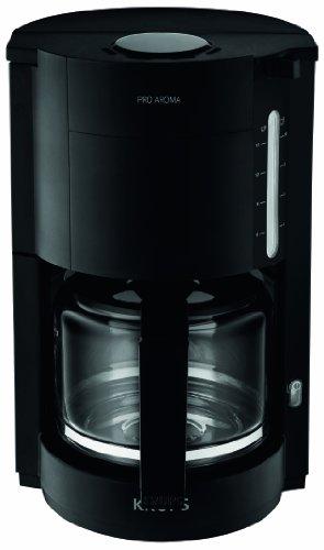 Design Kaffeemaschine (Krups F30908 Krups ProAroma Glas-Kaffeemaschine, 10 Tassen, 1.050 W im modernen Design, schwarz)