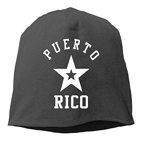 ASKYE Puerto Rico Nation Flag Pr Rican Winter Beanie Skull Cap Warm Knit Ski Slouchy Hat Durable