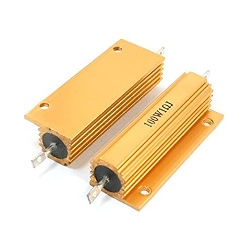 Sourcingmap a14012100ux0203 100 W 1 Ohm Aluminum Chassis Mount Type Wirewound Resistors - Multi-Colour