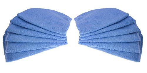 12 erstklassige Mikrofasertücher / Poliertücher / Staubputztücher / Autopoliertücher / Putztücher / blau