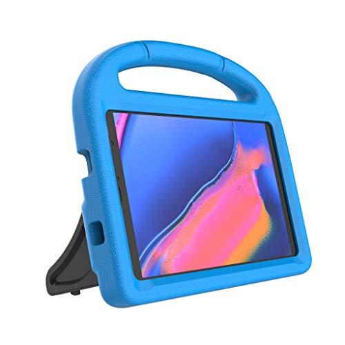 Jamicy® Hülle kompatibel für Samsung Galaxy Tab A SM-P200/P205 8.0 Zoll 2019, mit 90 Grad drehbar mit Ständer, Multiple Schicht-Hybrid-SchwerLast-Schock Hülle (Blau)