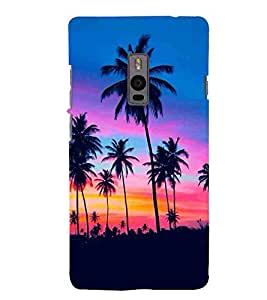 For OnePlus 2 :: OnePlus Two :: One Plus 2 Tree, Black, Night Mode , Amazing Pattern, Printed Designer Back Case Cover By CHAPLOOS