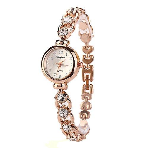 Cinhent Frauen Casual Edelstahl Quarz Band Analoge Armbanduhr Armbanduhr Fitness Uhr Manschette Uhr