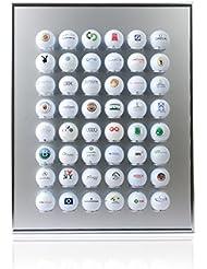 KNIX Premium Golfball Setzkasten aus Aluminium für 12, 24, 48, 64, 80 oder 140 - Schaukasten, Golf-Regal Vitrine Display