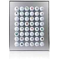KNIX Golfball Setzkasten für 12, 24, 48, 64, 80 oder 140 Golfbälle - Schaukasten, Golf-Regal, Vitrine, Display aus Aluminium - Das Original