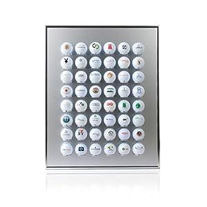 Knix Premium Golfball Setzkasten aus Aluminium für 48 Golfbälle -...