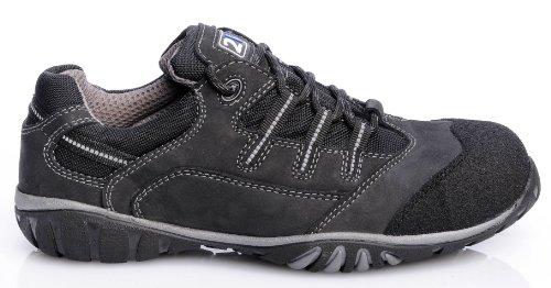 2W4 DALLAS semi scarpa EN345 S3 nero/grigio protagonista, scarpe, Sport Nero (nero)