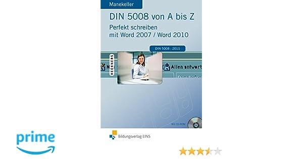 Din 5008 Von A Bis Z Perfekt Schreiben Mit Word 2007 Amazonde