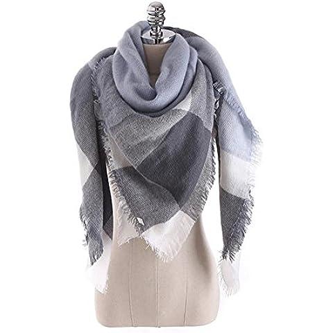 RUIRUI Mezcladas colores para otoño/invierno de la cachemira mantón de la bufanda , light blue