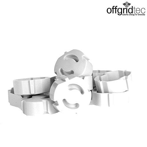 Protector infantil enchufable para enchufes de Offgridtec, 12 unidades, color blanco, 007310