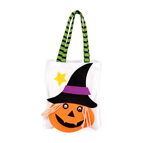 Halloween Süßes oder Saures Taschen Kürbis Umhängetasche Süße Süßigkeiten Geschenk Tasche Canvas Einkaufstasche für Erwachsene - Süßes Oder Saures Kostüm