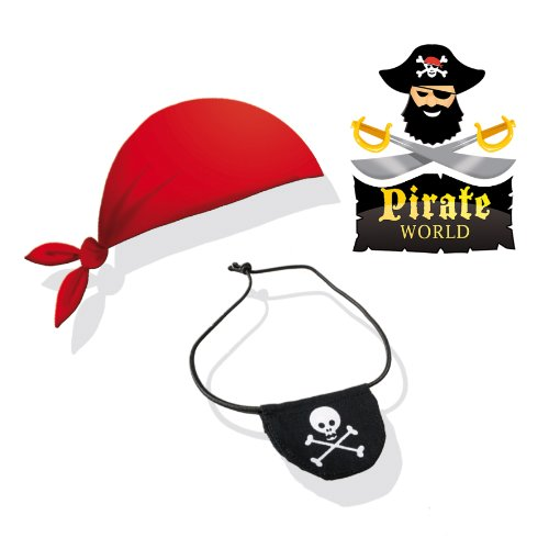 Imagen 4 de SES Creative - Pirate World, pañuelo y parche para ojo, multicolor (09857)