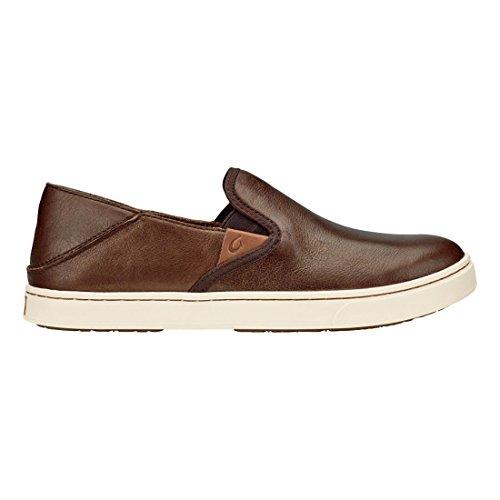 Olukai Femme Sneaker Pehuea Cuir Clay Bronze / Dk Java