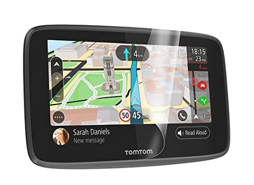 TomTom Bildschirm-Schutzfolie (geeignet für TomTom Navigationsgeräte mit 5- und 6-Zoll-Display, z.B. GO, Start, Via, GO Basic, GO Essential, GO Professional, GO Camper) - Basic-gps Paket
