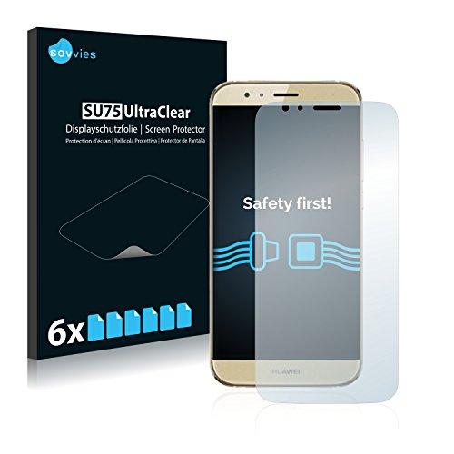 Savvies Schutzfolie kompatibel mit Huawei G7 Plus (6 Stück) - ultraklare Bildschirmschutz-Folie