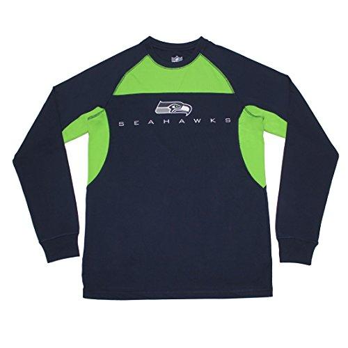 Big And Tall Sweatshirt (BIG & TALL NFL Seattle Seahawks Herren Leicht abzieh- und aufklebbar. Athletisches Sweatshirt XXL Dunkelblau)