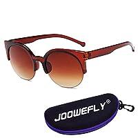 Polarized Sunglasses Holiday Sunglasses for Women Men (Brown)