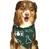 Sdltkhy Science Pet Bandana Washable Reversible Triangle Bibs Scarf - Kerchief for Small/Medium/Large Dogs & Cats