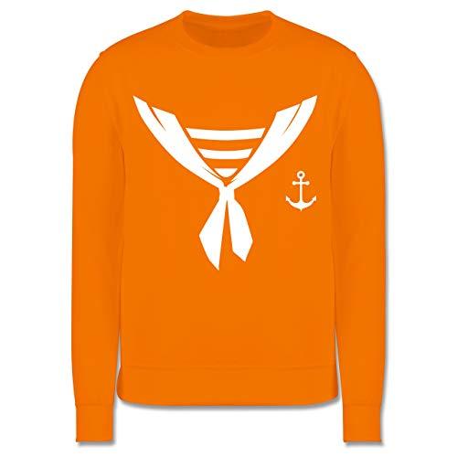 Shirtracer Karneval & Fasching Kinder - Seefahrer Halstuch Kostüm - 7-8 Jahre (128) - Orange - JH030K - Kinder ()