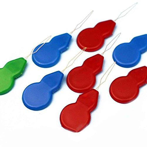 meisijia 10 stücke Kunststoff Draht Nadel Einfädler Nähen Handarbeit Draht Punch Werkzeuge Handwerk Fadenführung