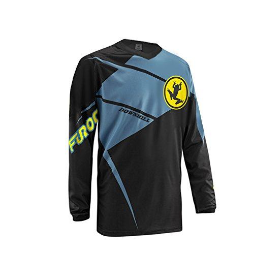 Niner Jersey (UGLYFROG 2018 Newest #05 V-Collar Long Sleeve Sports Jersey Frühling Motocross Downhill Trikots Enduro Cross Motorrad MTB)