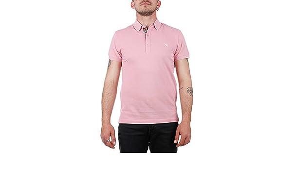 99f2409c Man's T-Shirt Polo ETRO 1Y800 9154 0656 Pink 1/I SPRING SUMMER 2018:  Amazon.co.uk: Clothing