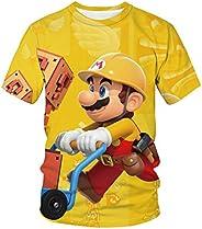 Amacigana Super Mario - Camiseta de manga corta para niños