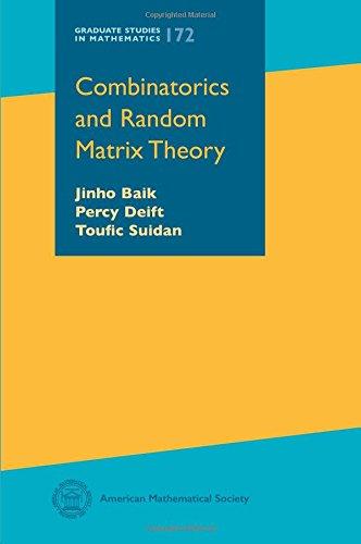 Combinatorics and Random Matrix Theory (Graduate Studies in Mathematics) por Jinho Baik