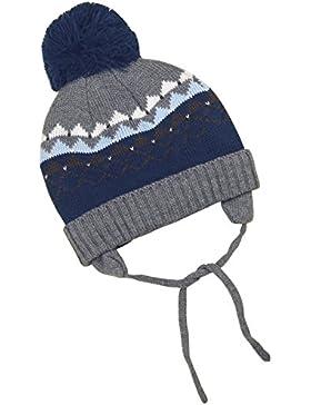 BabyPrem Baby Hut Winter Kleidung Bindemütze Strickmütze Ohrenklappen Bommel