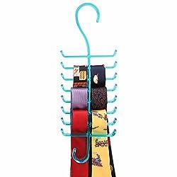 Premium Acrylic Tie & Belt Hanger - Blue Color