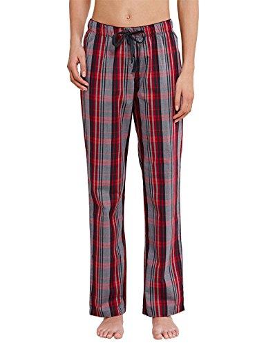 Uncover by Schiesser Woven Pants, Bas de Pyjama Femme Rouge - Rouge (500)