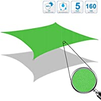 Cool Area - Toldo parasol rectangular, 2 x 3 m, protección UV para balcón, terraza, jardín, verde