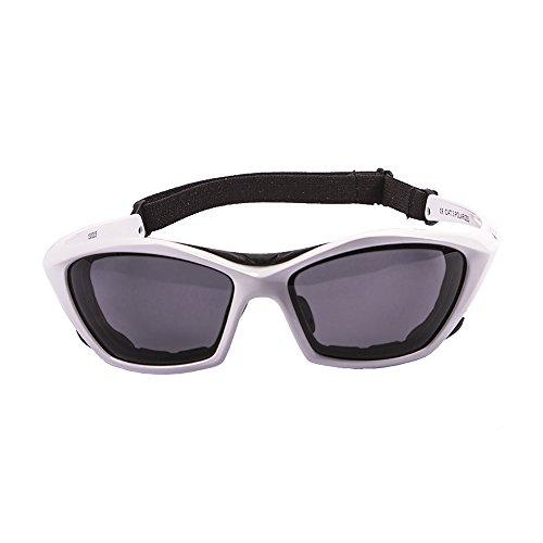 OCEAN SUNGLASSES - lake garda - lunettes de soleil polarisÃBlackrolles  - Monture : Blanc LaquÃBlackroll - Verres : FumÃBlackrolle (13000.3)