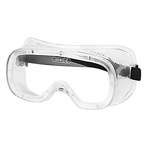 StonyLab Schutzbrille, klar, Anti-Beschlag, verstellbar, leicht, für Labor, Schutzbrillen, Gläser gegen Chemikalien, Spritzwasser und Stöße, transparent