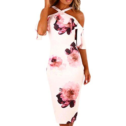 new styles a3d47 5928d Vestito Vestiti da donna Elegante feiXIANG® Donne Sexy Stampa Abito Sera  Festa Spiaggia Abiti Sundress Abito lungo maxi Abito Off spalla Vestito ...