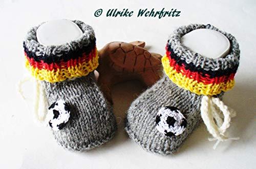 Babyschuhe Fussball Fussballschuhe Strickschuhe Nationalfarben Deutschland