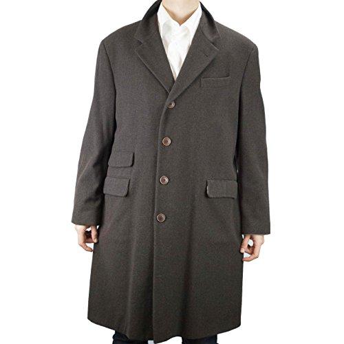 cappotto-3-4-uomo-48-m-marrone-panno-lana-misto-cashmere-loro-piana-reiss