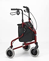 Days 240L Lightweight Aluminium Folding Three Wheel, Adult Mobility Tri-Walker with Bag