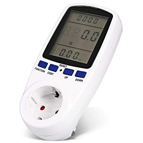 Alanan costi energetici Misuratore presa corrente Misuratore di potenza consumo contatore contatore con grande schermo LCD con tempo/energia/Costo di sovraccarico di indicatore