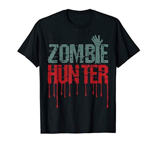 Hunter Kostüm Zombie - Zombie Jäger Shirt - Halloween Kostüm T-Shirt