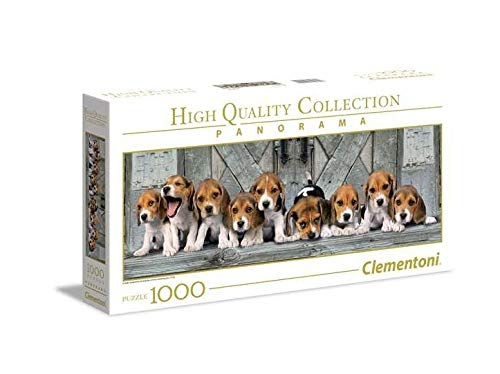 Clementoni Collection Panorama Puzzle Beagles, 1000 Unidades, 39435