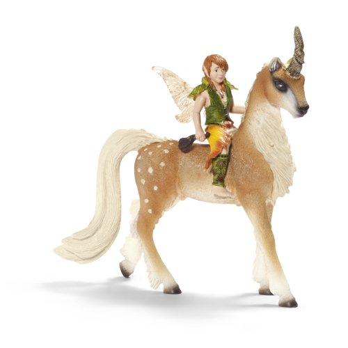 Imagen principal de Schleich - Elfo sobre unicornio de bosque, figura pintada a mano (70461)