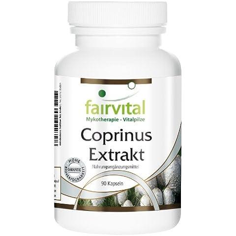 Fairvital - Estratto di Coprinus - 90 capsule vegetali , 30% polisaccaridi (125 mg) - 500 mg